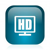 hd display blue glossy internet icon