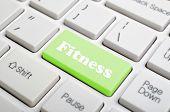 Green fitness key on keyboard