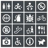 Vector International Signs Icon Set