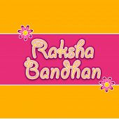 Beautiful greeting card design for Happy Raksha Bandhan celebrations with stylish text on yellow and