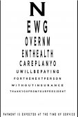 Controversial medical eye chart