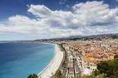 Cityscape Of Nice And The Coast Line, France