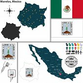 Map Of Morelos, Mexico