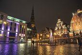 Night lights in Riga