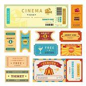 Retro tickets set