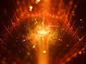 pic of fiery  - Fiery galaxy in space art and illustration for abstract background - JPG