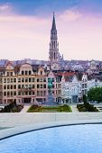 Mont des Arts Garden and Brussels panorama