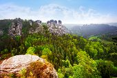 Beautiful panorama of Bastei, Sachsische Schweiz