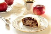 Strudel with apples
