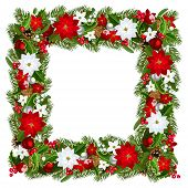 Christmas frame. Vector illustration.