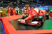 Nonthaburi - December 1: Ferrari Formula 1 Car Display At Thailand International Motor Expo On Decem