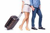 Leaving couple of tourist