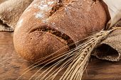 Bread And Wheat Ears Close-up