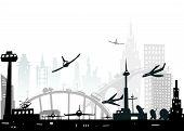City airport illustration