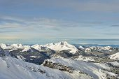 Winter Alpine Panoramic View