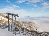 Mountain Ski Resort In The Alps