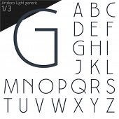 stock photo of generic  - Vector illustration of generic font - JPG
