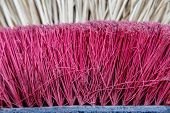 picture of broom  - Broom of straw and new broom closeup