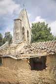 Saint Justa and Rufina church ruins, Calzadilla de Tera, Spain poster