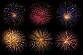 stock photo of firework display  - beautiful fireworks collection - JPG