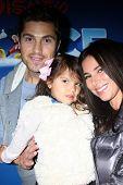 LOS ANGELES - DEC 11:  Eric Winter, Sebella Winter, Roselyn Sanchez at the