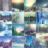 winter vacation collage