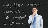Mathematic Formula On Blackboard