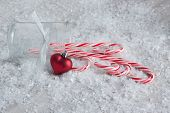 Candy Canes in the Snow