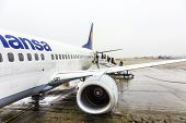 Lufthansa Boeing 737 Ready For Boarding