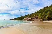 Beach Anse Lazio at Seychelles - nature background