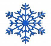 Blue snowflake icon