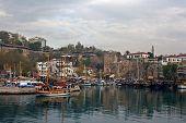 View Of Kaleici, Antalya Old Town Harbor.