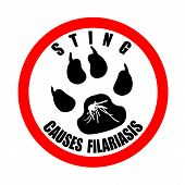 Sting Causes Filariasis Stamp
