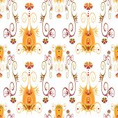 Seamless Retro Ornamental Pattern Texture Background