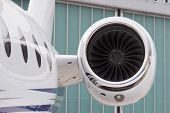 foto of rotor plane  - Engine of an Jet Airplane in Ground - JPG