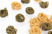 Tagliatelle paglia italian pasta.
