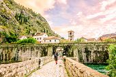 The Bridge in the old town of Kotor