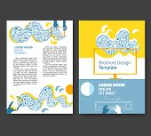 Flyer, Leaflet, Booklet Layout. Editable Design Template A4 Two Sides