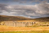 Ribblehead Viaduct With Train