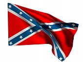 foto of flag confederate  - 3d rendering of an old confederate flag on a white background - JPG