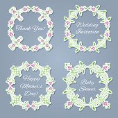 Floral frames set for the images or text