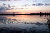 Sunrise over Lielupe river, Jurmala, Latvia