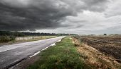 Road in cloudy weather
