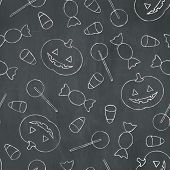 Halloween Chalk Pattern