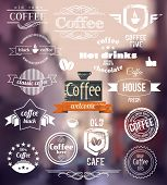 Coffee Logo. Old Town Stamp concept. Vector Retro coffee Badges and Labels