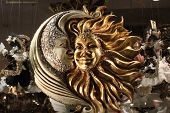 Typical Venetian Carnival Mask, Moon and Sun