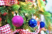 Christmas Ball On The Christmas Tree