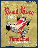 pic of driving school  - vintage race car for printing - JPG