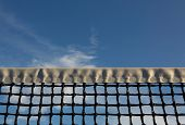picture of court room  - Tennis Net with room for copy - JPG