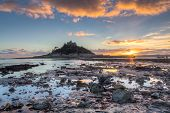 St Michaels Mount Sunset